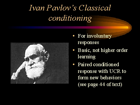 an analysis of the topic of the classical conditioning by ivan pavlov Classical conditioning research papers discuss the psychology experiment done by russian scientist ivan pavlov paper masters will custom write a research paper for you on classical conditioning that looks at any aspect of pavlov's theory and apply it however you need.